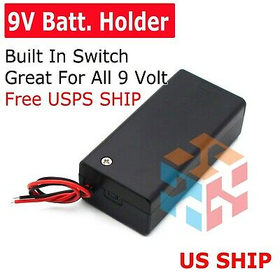 9v Volt Pp3 Battery Holder Box Dc Case W Wire Lead Onoff Switch Fp