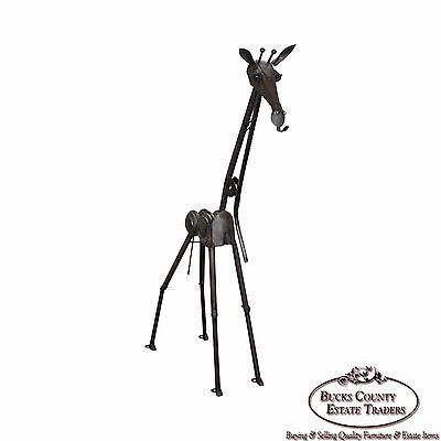 Richard Kolb Yardbirds 6.5 ft Tall Recycled Metal Giraffe Sculpture (Yardbirds Sculpture)