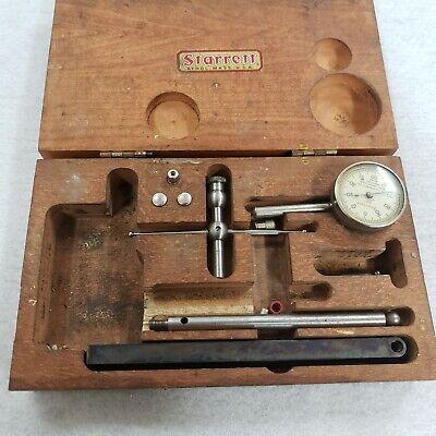 L.s.starrett Jeweled Dial Test Indicator No. 196 Set In Original Box
