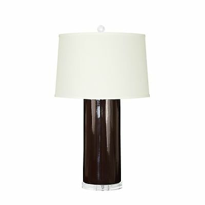 "NEW! Bungalow 5 FORMOSA 30"" Table Lamp Base DARK BROWN (chocolate) No Shade"