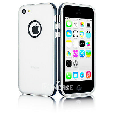 Apple Iphone 5 Shell (For Apple iPhone 5C Clear Rugged Candy Shell Soft Rubber Protective Case Cover)