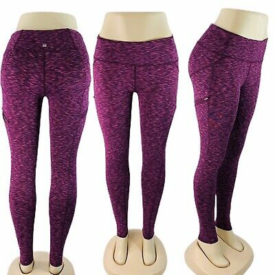 Z by Zobha Women's Size S Purple Ankle Length Athletic Activewear Leggings