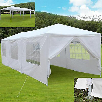 Large 30u0027 Party Reception Tent Canopy White Side Walls Windows Gazebo Yard Cover & Best Deals On Large Canopy Tent - shopping123.com