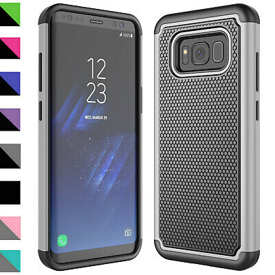 For Samsung Galaxy S8/Plus Case Silicone Shockproof Cover With Screen Protector