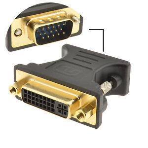 DVI 24+5 Female Socket to VGA 15 Pin Male Plug Converter Adapter [001974]