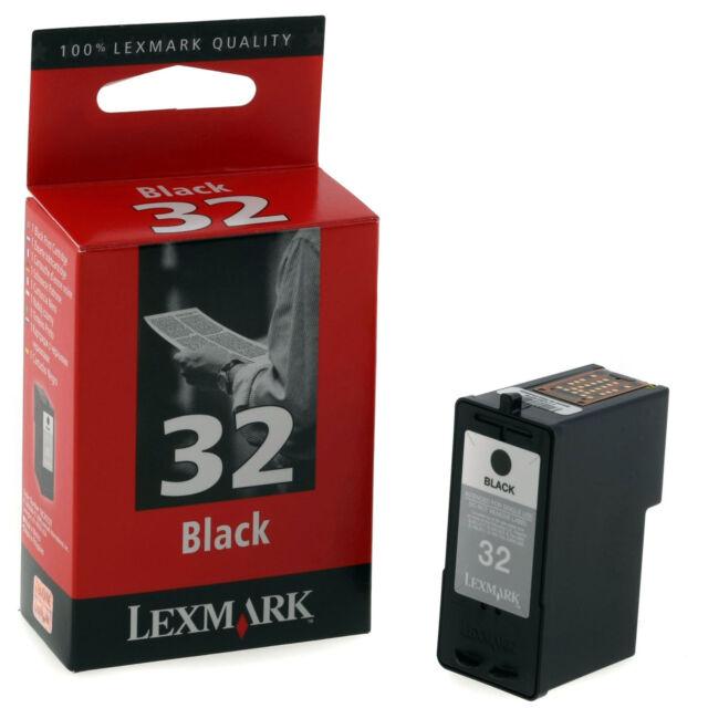 GENUINE OEM BLACK LEXMARK PRINTER INK CARTRIDGE LEXMARK 32 018C0032E
