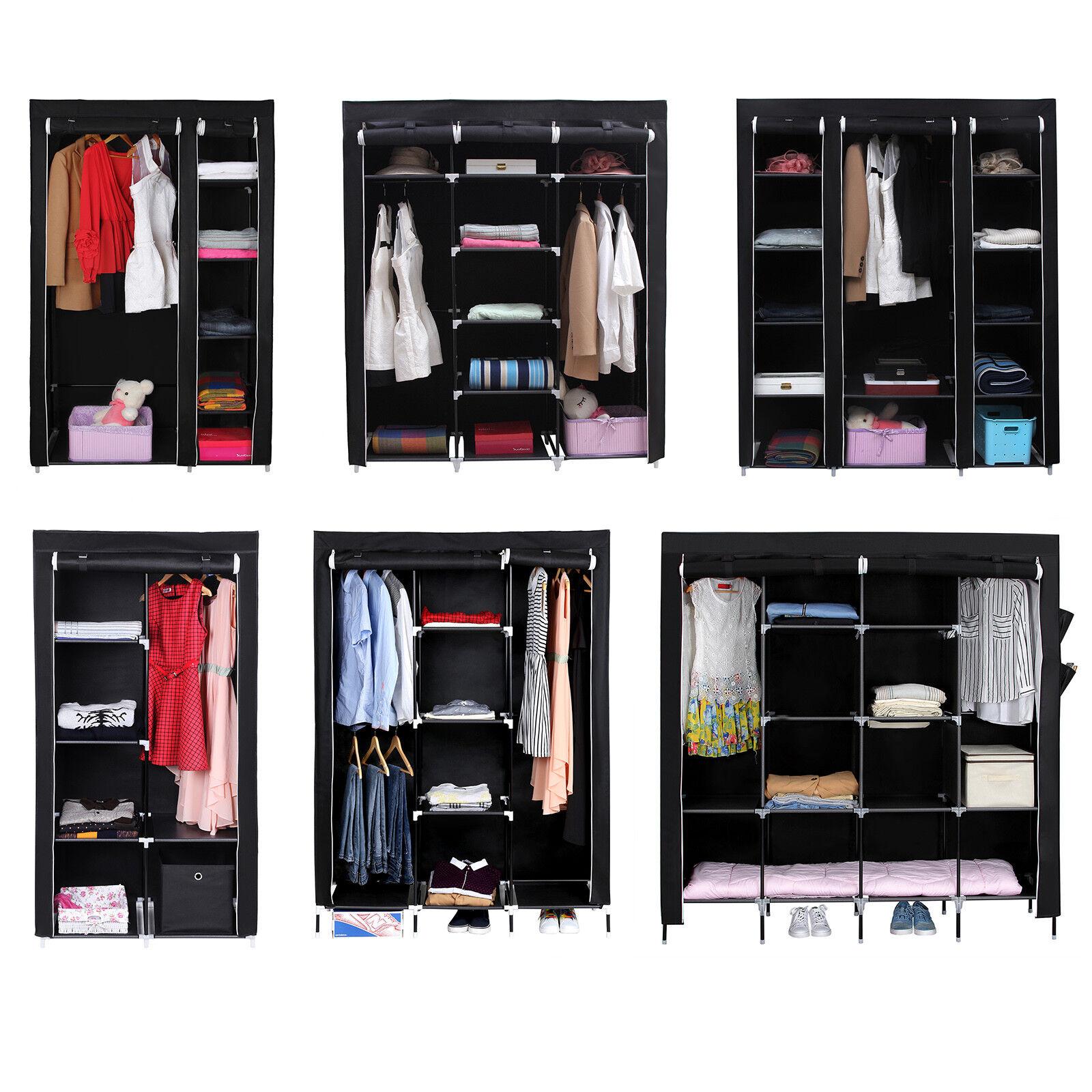 Haushalt International Textilkleiderschrank Garderobenschrank Faltschrank Kleiderschrank Campingschrank