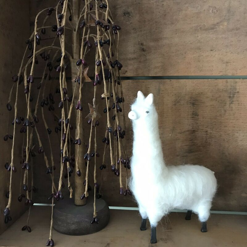 Collectible OOAK Hand Made Real Wool Alpaca / Llama Figurine