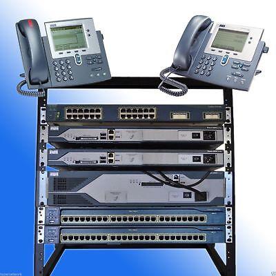 Cisco CCNA CCNP R&S VOICE SECURITY LAB  CME 8.6 IOS 15.1 POE RACK INCLUDED