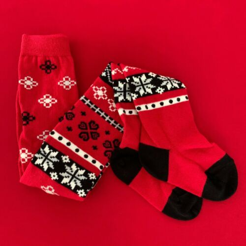 """Hanna Andersson Cute Girls """"HOLIDAY"""" Tights. 2-3 Years. 80/90 cm. Soft and Comfy"""