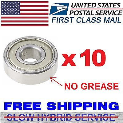10pcs Bearings 608zz 8x22mm Skate Metric Ball Bearings Fidget Spinner No Grease