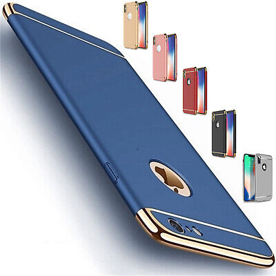 Ultra Thin Slim Electroplate Hard Armor Case For iPhone Xs Max XR 5s 6s 7 8 Plus