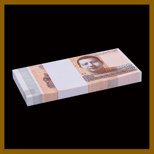 Cambodia 100 Riels x 25 Pcs Bundle, 2014 (2015) P-65 Unc