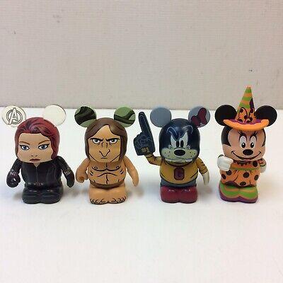 Lot of 4‼ Disney Vinylmation Halloween Minnie Goofy Mascot Black Widow LE Tarzan