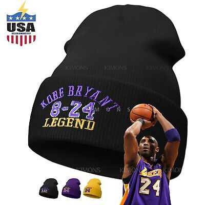 Cuff Kobe Bryant Beanie cap hat  8-24 Legend mamba 24 Men Women Solid