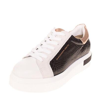 RRP€175 ALEXANDER SMITH Sneakers EU 38 UK 5 US 8 Snakeskin Pattern Made in Italy