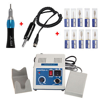 Laboratorio dental Micromotor Motor eléctrico con Straight Nose Cone + BURS