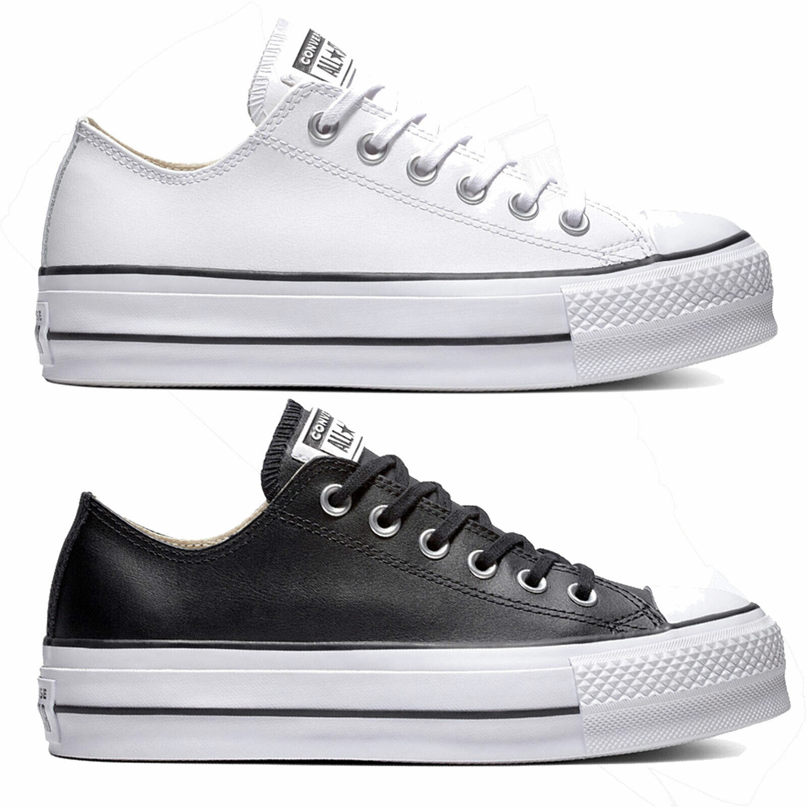Converse Chuck Taylor all Star Lift Clean Ox Leather Women's Sneakers Trainers