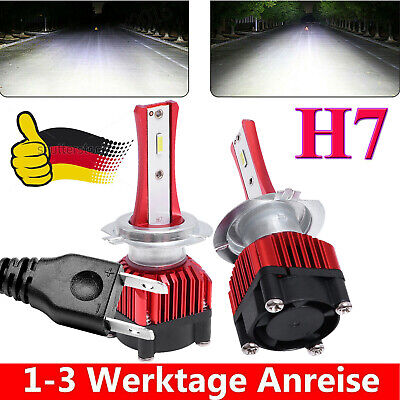 2X H7 LED Scheinwerfer Kit 1200W Fern- / Abblendlicht COB 6000K VS Xenon Halogen