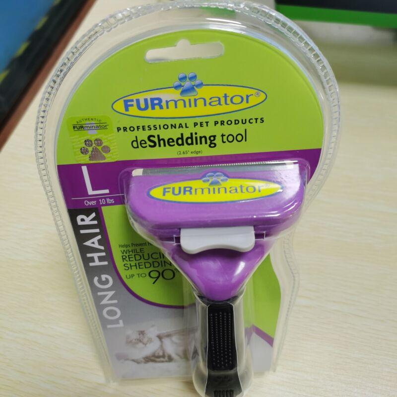 New!FURminator Long Hair DeShedding Tool for Cats, Large 1 PACK,fast Shipping.