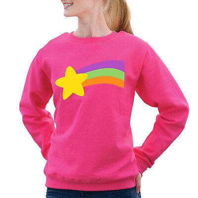 Mabel Gravity Falls Costume (Gravity Falls Mabel Pines rainbow Pink Sweatshirt Halloween Costume Adult)