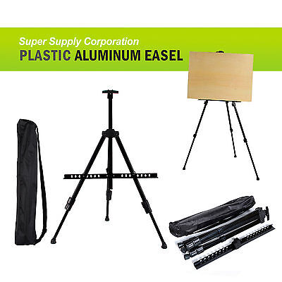 Portable Aluminum Easel Board Sign Poster Stand Display Light - Portable Aluminum Poster