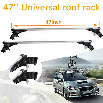"""47"""" Car Top Luggage Cross Bar Roof Rack Carrier Skidproof For Honda Accord Civic"""