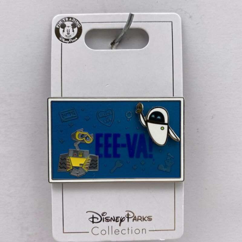Disney Parks Pin Wall-E and Eve EEE-VA! Pixar 3D Trading