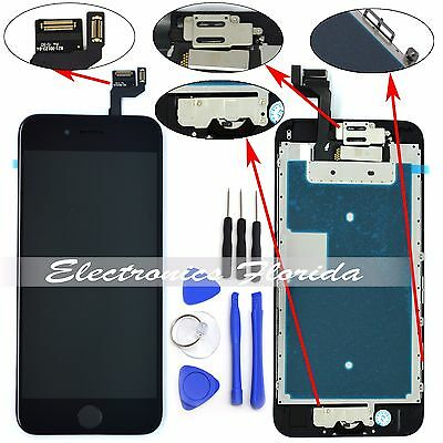 Black Lcd Screen Replacement Digitizer Full Assembly For ...