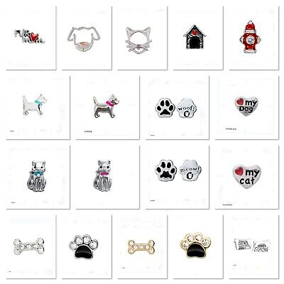 Authentic Origami Owl PETS DOGS CATS Floating Charms Combined Shipping