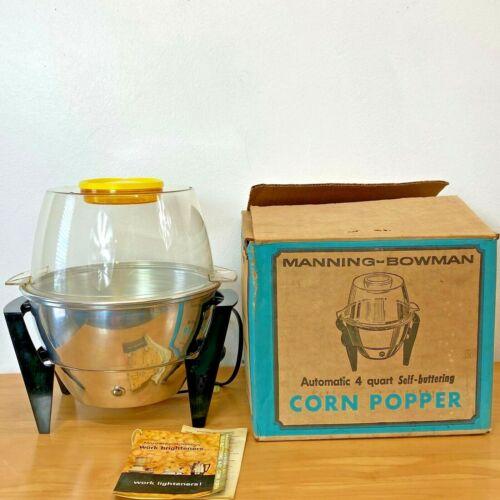 Vintage Manning Bowman Popcorn Popper Atomic w/ Box Mod 355016 Self Buttering SH