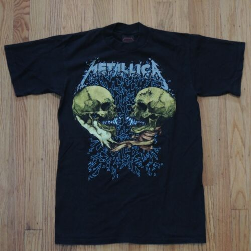 Metallica Vintage Pushead T Shirt Size Medium 2 Sided Im Inside Im You Sad True