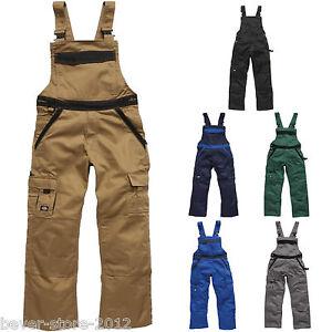 Dickies homme pantalons de travail salopette grandes - Vetement de travail grande taille homme ...