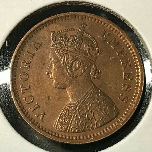1894 BRITISH  INDIA 1/2 PICE HIGH GRADE SCARCE COIN