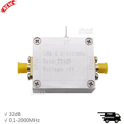 0.1-2000mhz Rf Wideband Amplifier Low Noise Amp 32db High Frequency