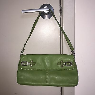 Aurielle Olive Green Faux Leather Buckle Purse with Zipper Closure