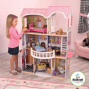 Kidkraft ~ Wooden Magnolia Mansion - Doll House - for Barbie or Batz Dolls