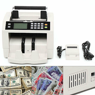 Money Bill Currency Counter Counting Machine Counterfeit Detector Magnetic100pcs