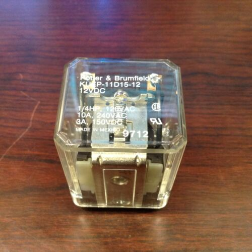 NEW POTTER BRUMFIELD KUEP-11D15-12 RELAY 12V-DC