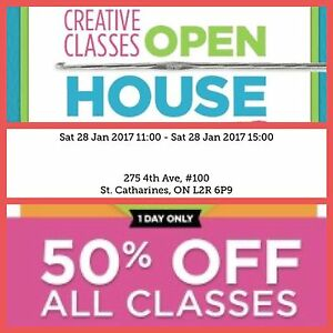 Painting and Drawing Classes Open House and Sale