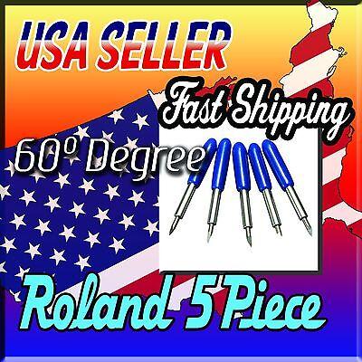 5x 60 Degree Roland Plotter Vinyl Cutter Blade Knife Mimakivinyl Expressallen