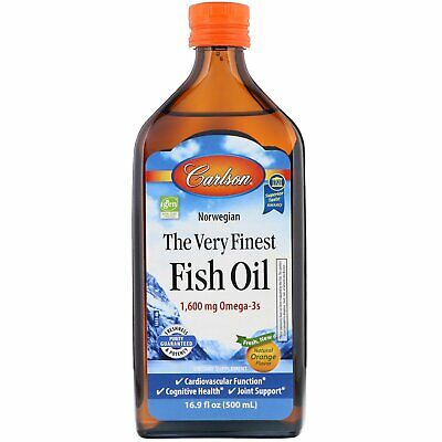 Carlson The Very Finest Fish Oil Liquid Omega-3 Orange, 500m