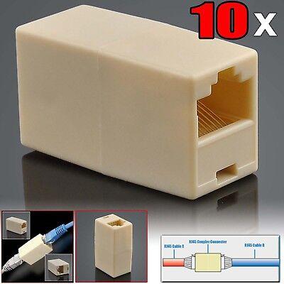 - 10Pack Newtwork Ethernet Lan Cable Joiner Coupler Connector CAT 5 5E Extender
