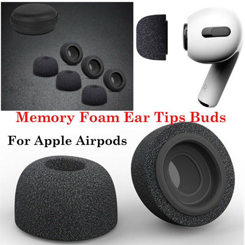 Silicone Memory Foam Replacement Ear Tips Buds for Apple Air