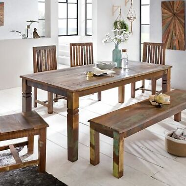 WOHNLING Esszimmertisch Kalkutta 120x70 cm Esstisch Tisch Küchentisch 4-6 Pers.