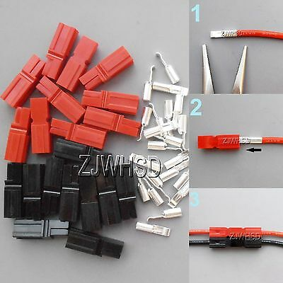 10 Pair Fits 30 Amp Power Red Black Pole Sermos Ac Dc Copper Wire Connectors Kit