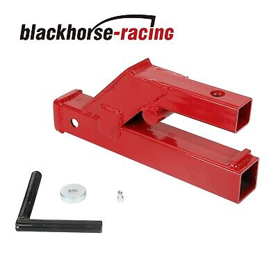 Clamp On Trailer Hitch 2 Ball Mount Receiver Deere Bobcat Tractor Bucket Red