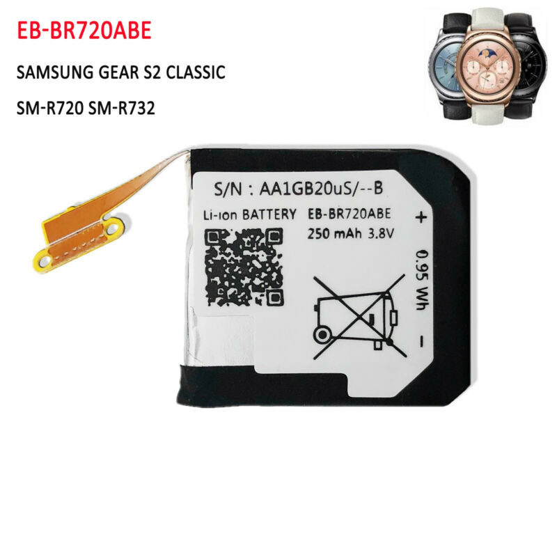 Battery EB-BR720ABE For Samsung Gear S2 Classic SM-R720 SM-R732 Smart Watch
