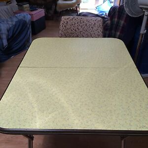 Vintage chrome & Formica Table and 2 chairs
