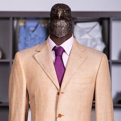 NWT $1500 CANALI SLIM Tan Silk Linen Cotton Sport Coat 38US/48IT